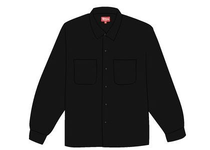 Supreme Corduroy Shirt (FW19) Blackの写真