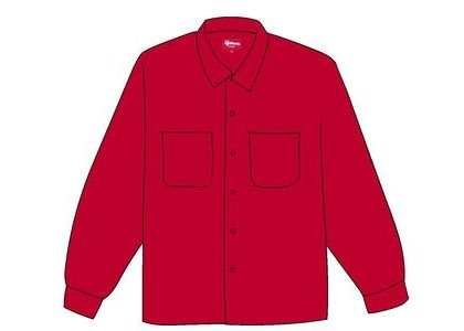 Supreme Corduroy Shirt (FW19) Redの写真