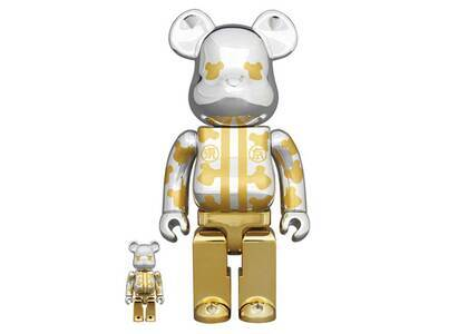 Be@rbrick Happy Tokyo Silver Plated 100% & 400%の写真