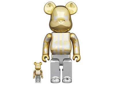 Be@rbrick Happy Tokyo Gold Plated 100% & 400%の写真