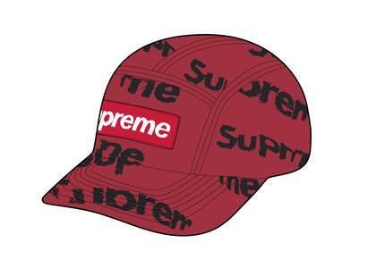 Supreme Frayed Logos Denim Camp Cap Red (SS21)の写真