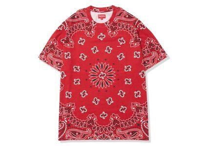 Supreme Small Box Tee Red Paisley (SS21)の写真