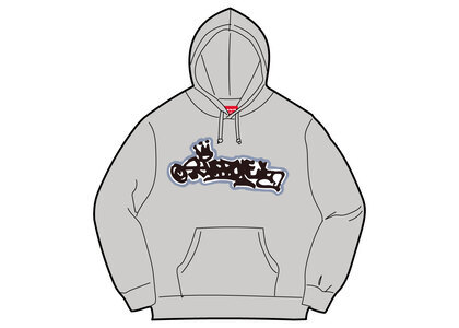 Supreme Handstyle Hooded Sweatshirt Gray (SS21)の写真