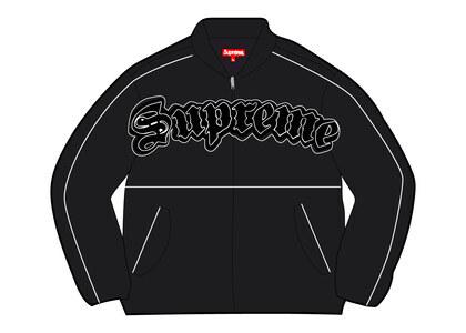 Supreme Twill Old English Varsity Jacket Black (SS21)の写真