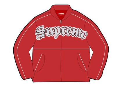 Supreme Twill Old English Varsity Jacket Red (SS21)の写真