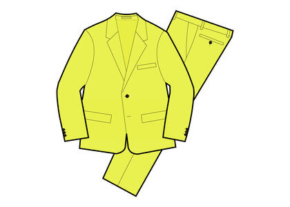 Supreme Wool Suit Yellow (SS21)の写真
