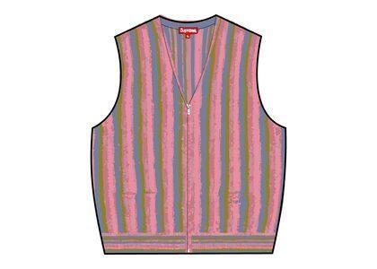 Supreme Stripe Sweater Vest Pink (SS21)の写真