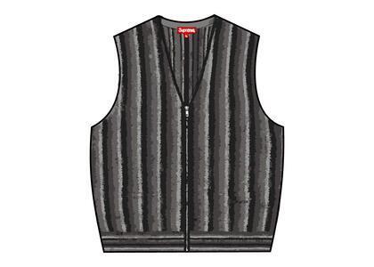 Supreme Stripe Sweater Vest Black (SS21)の写真