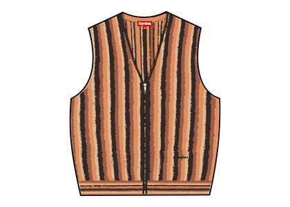 Supreme Stripe Sweater Vest Orange (SS21)の写真