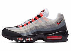 AIR MAX 95 WHITE/SOLAR RED (2018)の写真