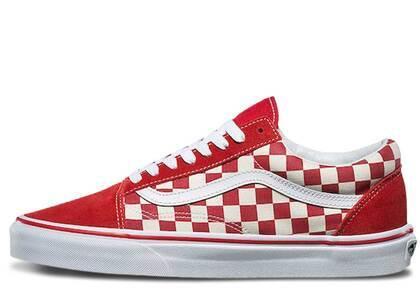 Vans Old Skool Checkerboard Racing Redの写真