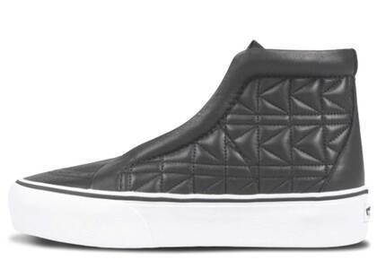 Vans Sk8-Hi Laceless Platform Karl Lagerfeld Quilt Blackの写真