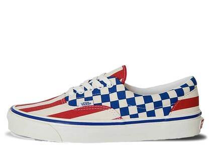 Vans Era 95 Anaheim Factory Red Stripes Blue Checkersの写真