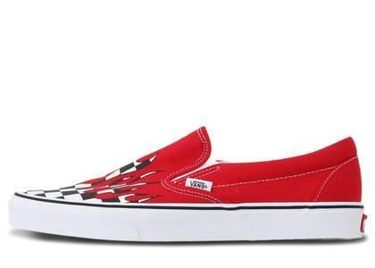 Vans Slip-On Checkerboard Flame Redの写真