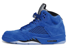 Jordan 5 Retro Blue Suedeの写真