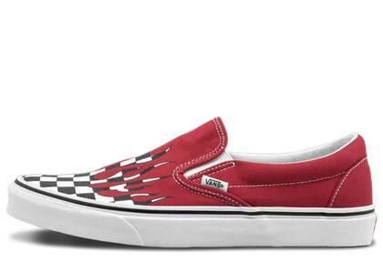 Vans Slip-On Checker Flame Redの写真