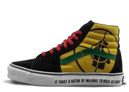 Vans Sk8-Hi Supreme Public Enemy Black Yellowの写真