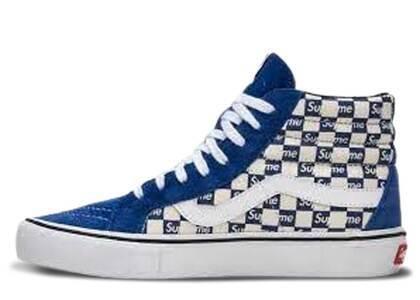 Vans Sk8-Hi Supreme Blue Checker Logoの写真