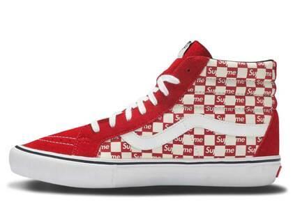 Vans Sk8-Hi Supreme Red Checker Logoの写真
