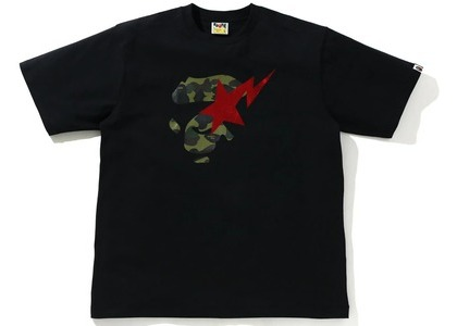 Bape 1st Camo Ape Face Sta Relaxed Fit Tee Black/green (SS21)の写真