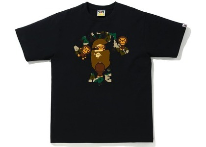 Bape 1st Camo College Milo Tee Black/yellow (SS21)の写真