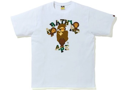 Bape 1st Camo College Milo Tee White/yellow (SS21)の写真