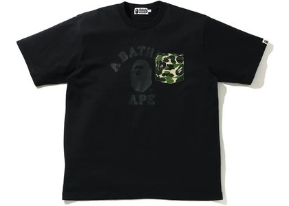 Bape ABC Camo College Relaxed Fit Pocket Tee Black (SS21)の写真