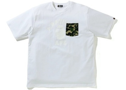Bape ABC Camo College Relaxed Fit Pocket Tee White (SS21)の写真