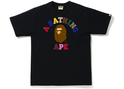 Bape Colors College Tee Black (SS21)の写真