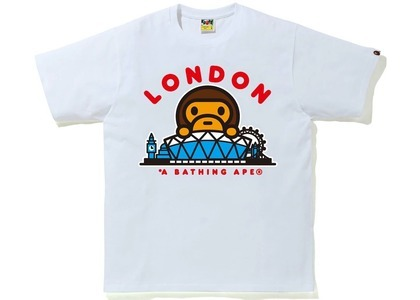 Bape London Baby Milo Tee White (SS21)の写真