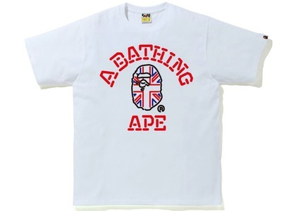Bape London Union Jack College Tee White (SS21)の写真