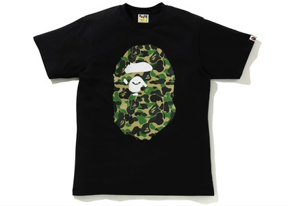 Bape ABC Camo Big Ape Head Tee Black (SS21)の写真