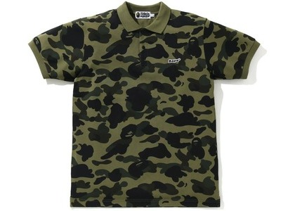 Bape 1st Camo Patched Polo Green (SS21)の写真