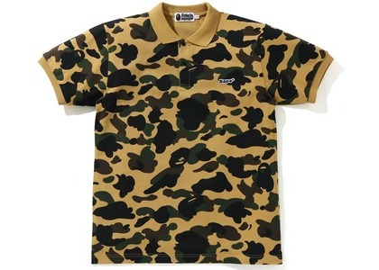 Bape 1st Camo Patched Polo Yellow (SS21)の写真