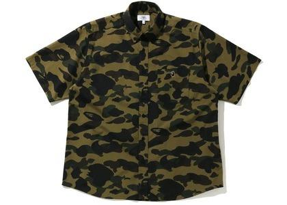 Bape 1st Camo Relaxed Short Sleeve Shirt Green (SS21)の写真