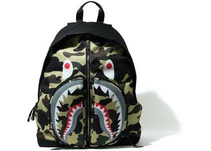 Bape 1st Camo Shark Day Pack Yellow (SS21)の写真