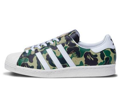 BAPE × adidas Superstar 80s Green Camoの写真
