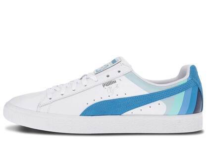 Puma Clyde Pink Dolphin White French Blueの写真