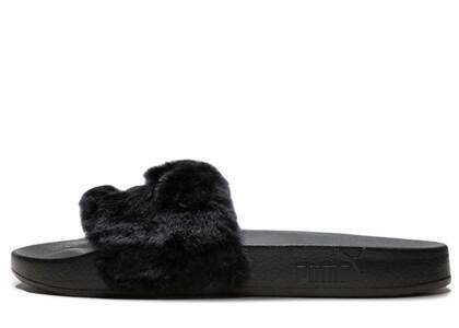 Puma Fur Slide Fur Slide Black Womensの写真