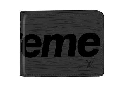 Supreme x Louis Vuitton Slender Wallet Epi Black (SS17)の写真