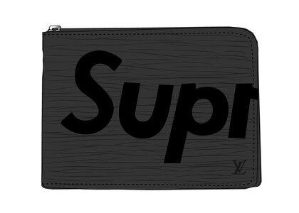 Supreme x Louis Vuitton Pochette jour Epi GM Black (SS17)の写真