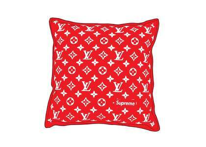 Supreme x Louis Vuitton Monogram Pillow Red (SS17)の写真