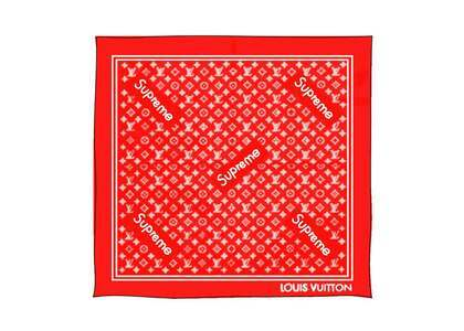 Supreme x Louis Vuitton Monogram Bandana Red (SS17)の写真