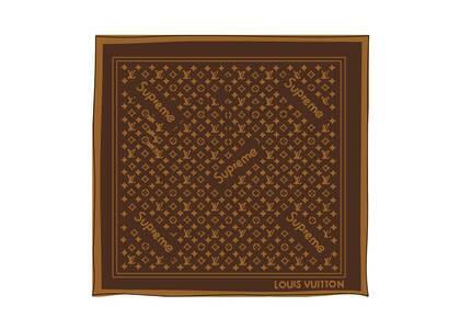 Supreme x Louis Vuitton Monogram Bandana Brown (SS17)の写真