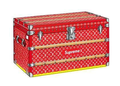 Supreme x Louis Vuitton Malle Courrier Trunk Monogram 90 Red (SS17)の写真