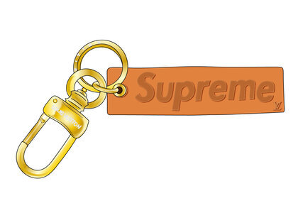 Supreme x Louis Vuitton Keychain Brown in Leather with Gold-tone (SS17)の写真