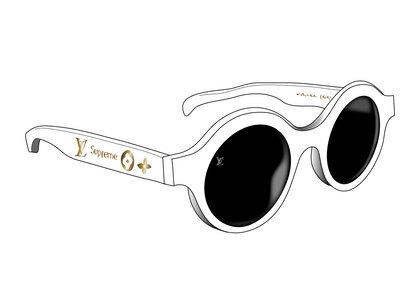 Supreme x Louis Vuitton Downtown Sunglasses White (SS17)の写真