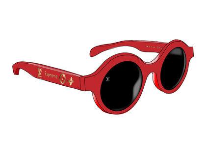 Supreme x Louis Vuitton Downtown Sunglasses Red (SS17)の写真
