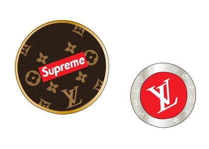 Supreme x Louis Vuitton City Badge Brooch Set Multi (SS17)の写真