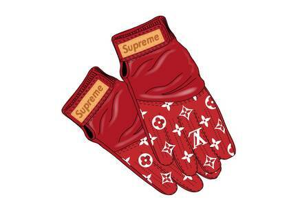 Supreme x Louis Vuitton Baseball Gloves Red (SS17)の写真